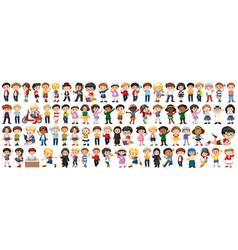 children with different nationalities on white vector image