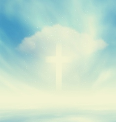 Christian Glowing Cross vector image