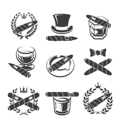 Cigars logo set vector
