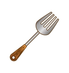 color carving fork icon image vector image