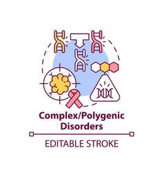 Complex polygenic disorders concept icon vector