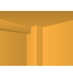 Corner walls vector image
