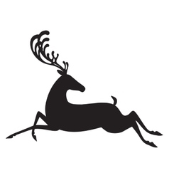 Deer black isolated elk vector image