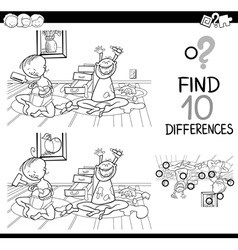 difference game for coloring vector image