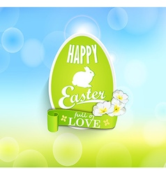 Easter eggs with ribbon vector image