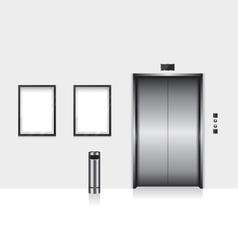 Elevator with closed door vector
