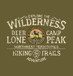 Explore the wilderness great outdoor vector