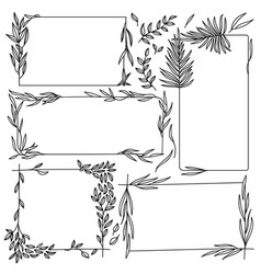 floral graphic frames set vector image