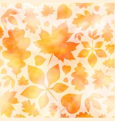 golden autumn watercolor background vector image
