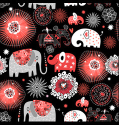 graphic seamless pattern with love vector image