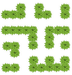 green leaves maze vector image