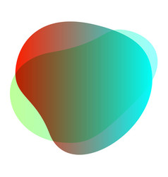 Green red blob shape free from for background vector