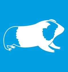 Hamster icon white vector