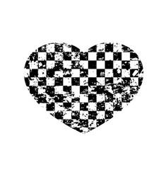 Heart sport flag background vector