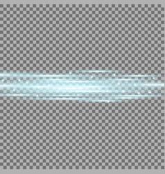 Horizontal lens flares lights aqua color vector