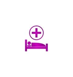hospital bed Flat design style vector image