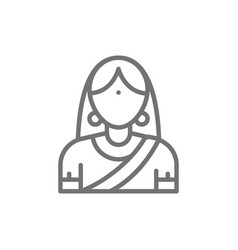 indian woman in traditional national dress bride vector image