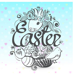 ink hand drawn all the symbols of easter vector image