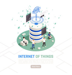 Internet of things isometric design concept vector