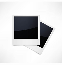 isolated photo frames on white background vector image