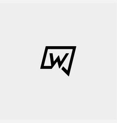 Letter w chat logo template design vector