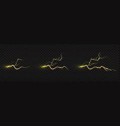 Lightning strike animation electric discharge vector