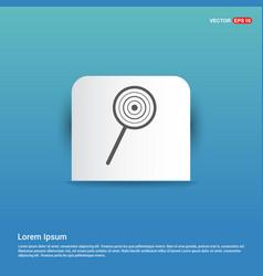 lollipop icon - blue sticker button vector image