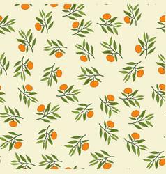 mandarin branch seamless pattern vector image