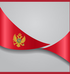 Montenegro wavy flag vector