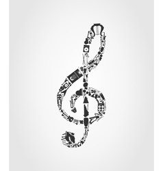musical note vector image