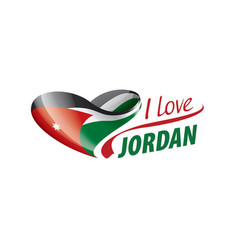 National flag jordan in shape a vector