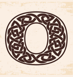 Numeral with celtic ornament vector