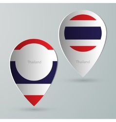 paper of map marker for maps thailand vector image