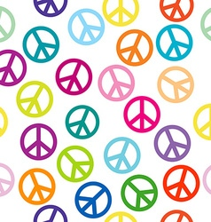 Peace sign seamless pattern vector