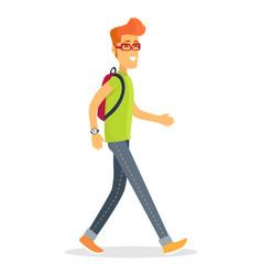 pedestrian tourist icon of boy vector image