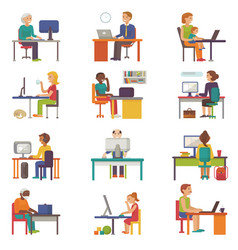 people work place business worker or person vector image