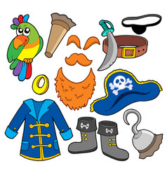 Pirate clothes collection vector