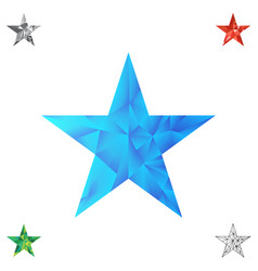 Polygonal star background vector
