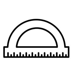 protractor icon isolated on white background vector image