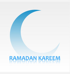 Ramadan kareem card with crescent symbol vector