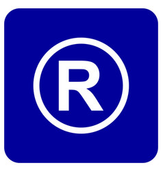Registered trademark icon design vector