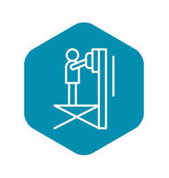 Scissor lift platform icon outline style vector
