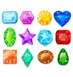 Set Of Colorful Gems vector