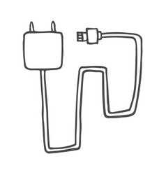 single sketch charger for mobile phones vector image