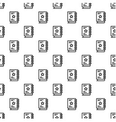 Sketch book pattern seamless vector