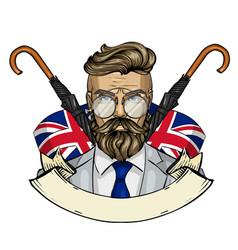 Sketch british man vector
