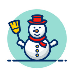 Snowman clipart icon design vector