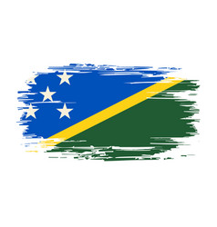 solomon islands flag brush grunge background vector image