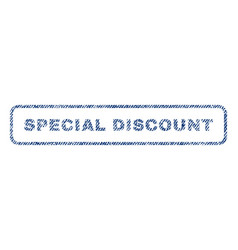 Special discount textile stamp vector