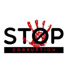 Stop corruption banner vector